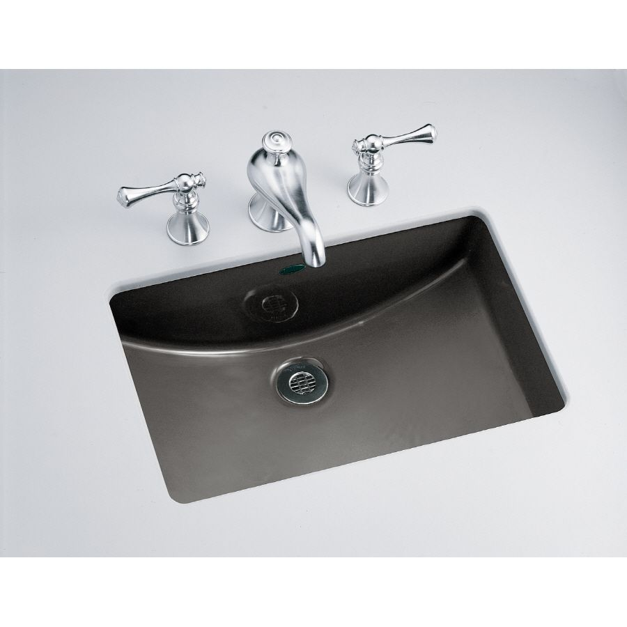 Kohler ladena thunder grey undermount rectangular bathroom sink with overflow also