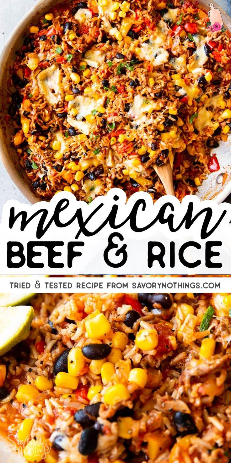 Photo of Super Easy Mexican Beef and Rice Skillet