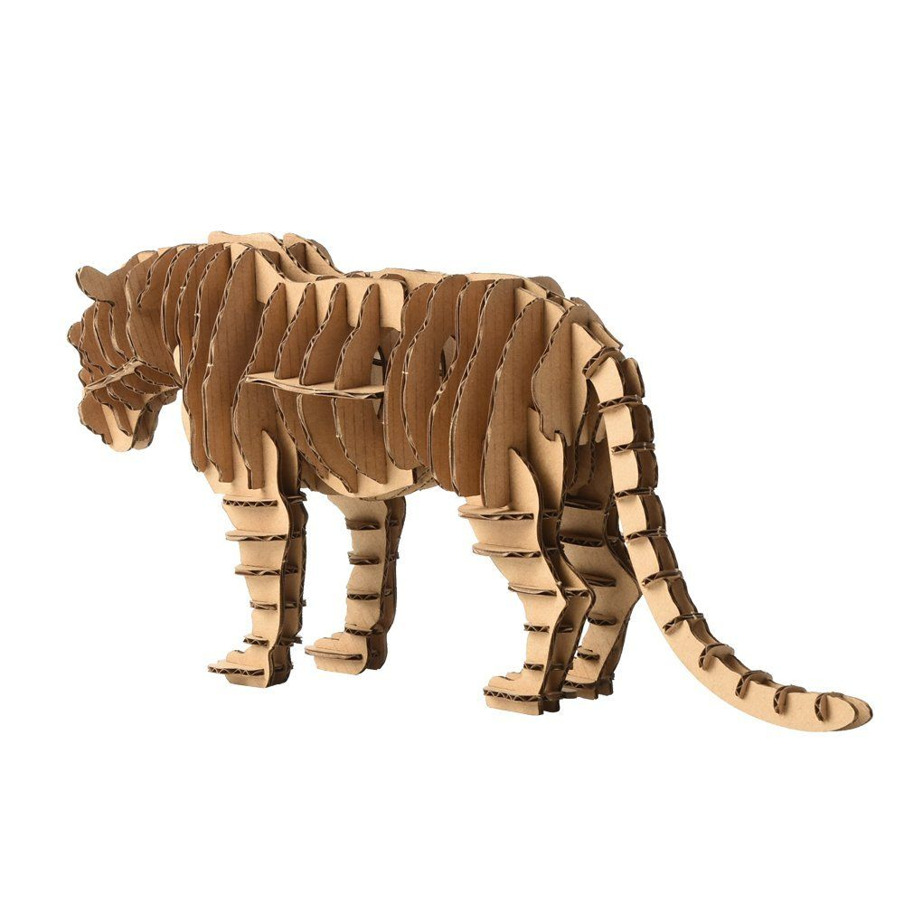 Paper Maker Diy 3d Puzzle Tiger Animal Model For Home Decoration Brown Pet Tiger Animal Puzzles Animal Puzzle 3d