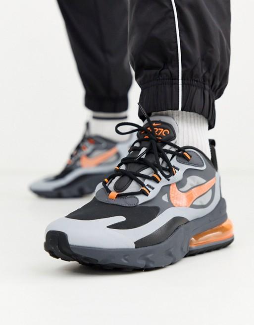 amplia gama nueva alta calidad presentación Nike Air Max 270 React trainers in grey CD2049-006 | ASOS | Nike ...