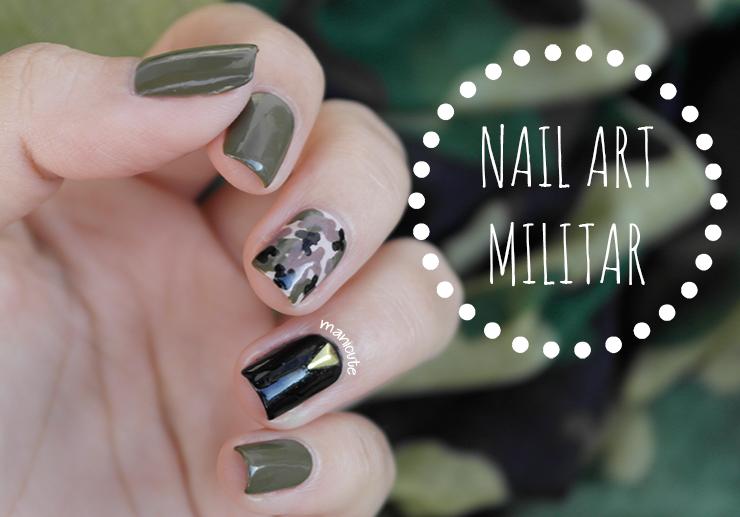 ManiCute | Nail art blog: Manicura militar | Nuevos esmaltes H&M ...