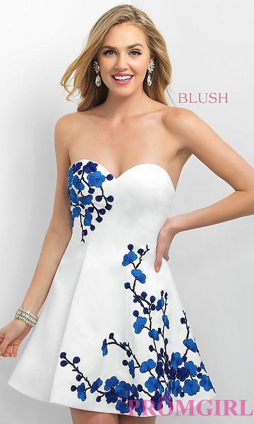 Strapless Intrigue by Blush Short Homecoming Dress | Prom ...