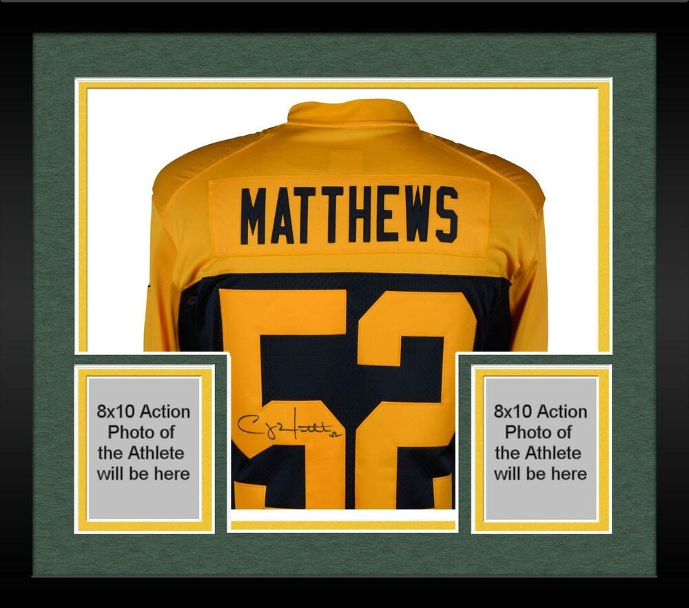baeabdcc1 Framed Clay Matthews Green Bay Packers Signed Nike Throwback Blue Limited  Jersey  sportsmemorabilia  autograph