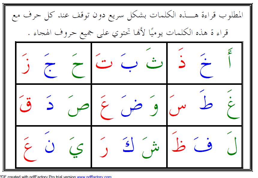 اللغة العربية تدريبات قراءة كلمات تشمل جميع الحروف للصف الأول ملفاتي Word Search Puzzle Words Math