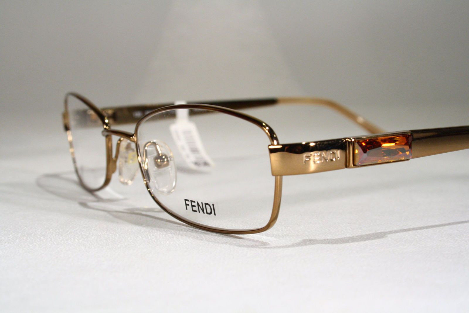 98a21415144e Women s FENDI Glossy Rich Gold   Orange Jewels Optical Eyeglass Frames  Glasses + Case   eBay (RipVanW)