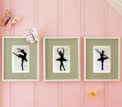 cuadros para habitaciones juveniles tiernos   bailarinas   Pinterest ...