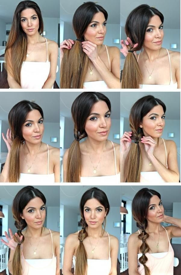 Hairstyle Tutorials 15 simple and cute hairstyle tutorials Twist Ponytail Hairstyle Tutorial Side Ponytail Hair Styles For Girls