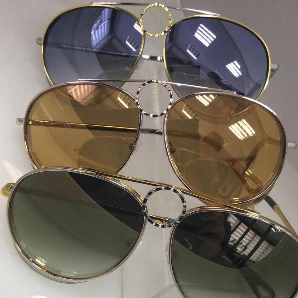 43f6056723f55 Chloé Romie 💙 Luxo para as amantes de óculos aviador! Lançamento já  disponível na