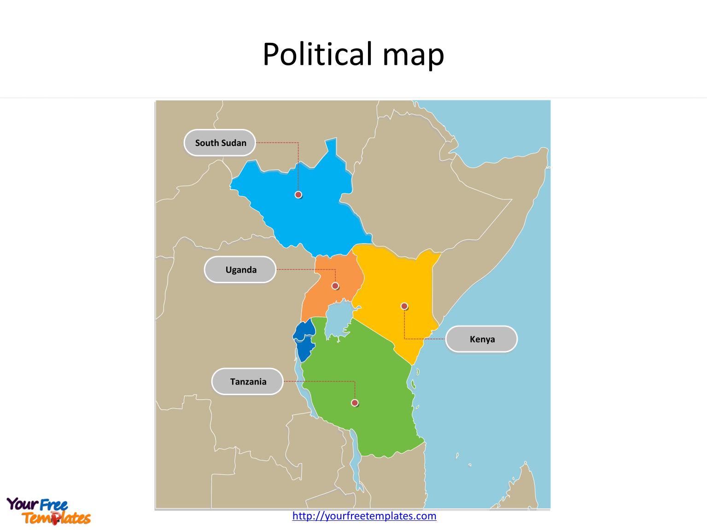 East african community powerpoint map africa country map template east african community powerpoint map toneelgroepblik Gallery