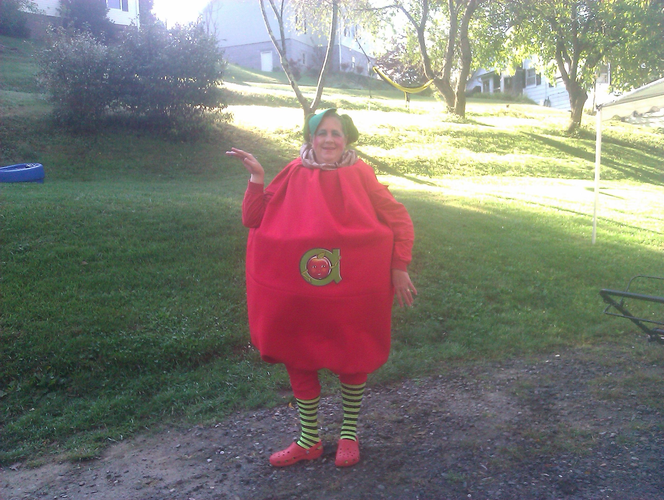 This Is The Costume I Made For Annie Apple Day At School It