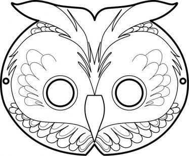 Free Printable Masks The Owl Masque De Hibou Coloriage Masque
