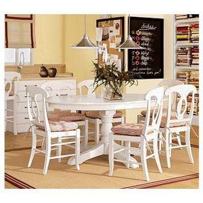 Aris Pedestal Dining Table 45 Diam Antique White