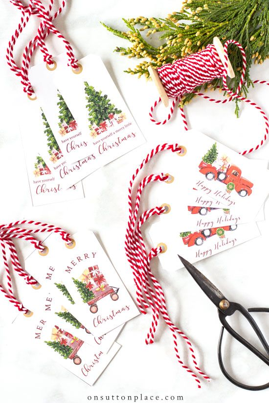 Printable Christmas Gift Tags: Vintage Style & Festive