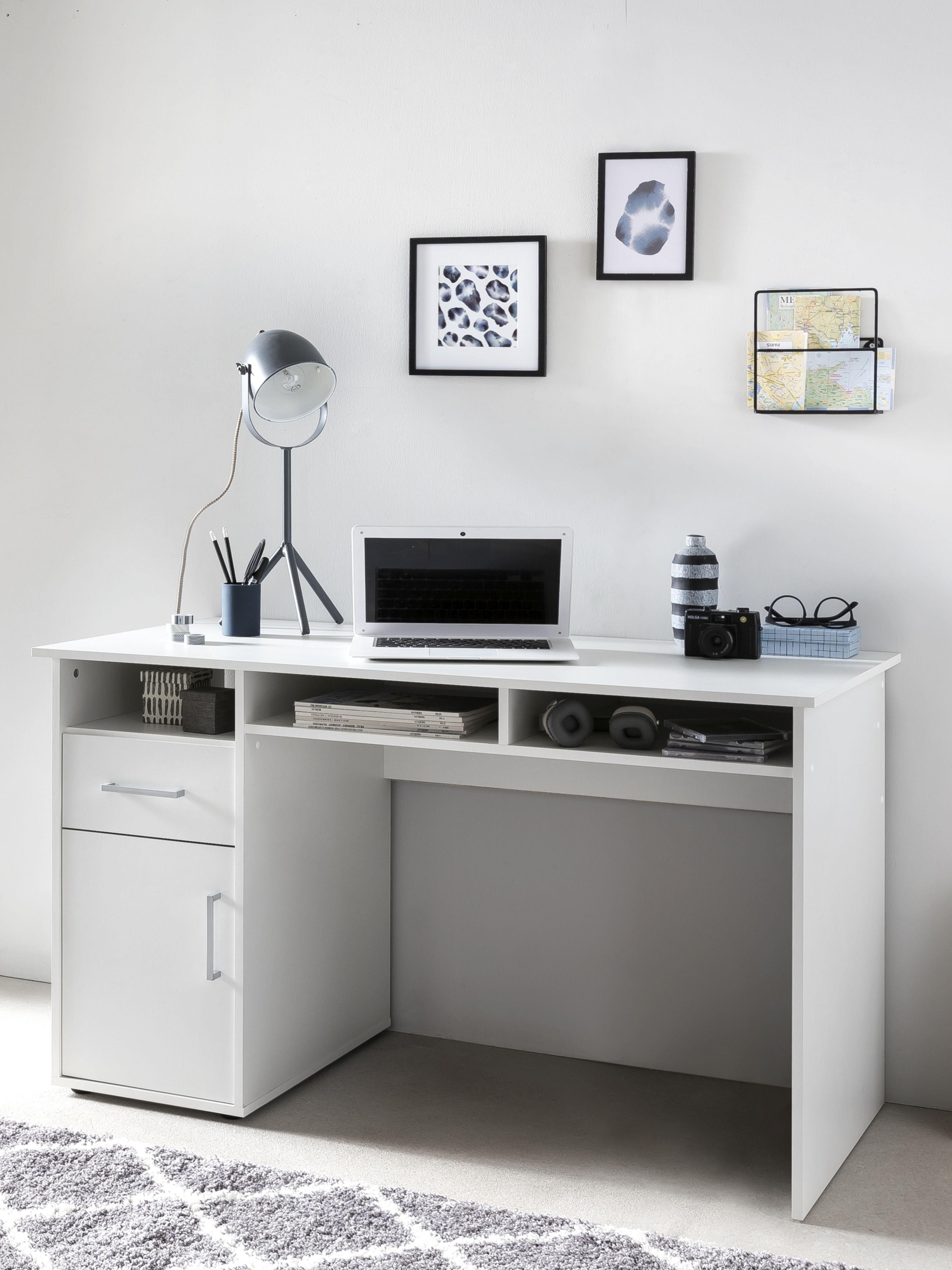 Computertisch PC Tisch Hochglanz Schreibtisch Bürotisch Arbeitstisch Schubladen
