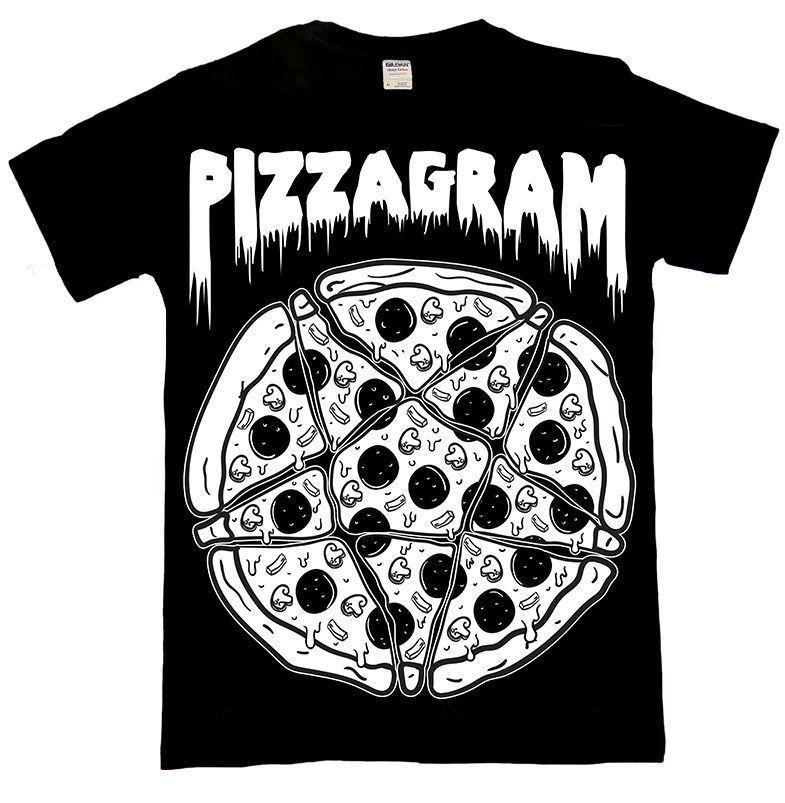 36b67ab0b8b30 Details about Luna Cult Pizzagram T Shirt Pentagram star occult ...