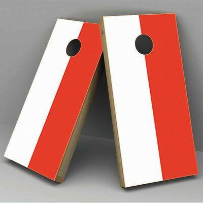 Poland Flag Cornhole Board Vinyl Sticker Wrap - poland-cornhole