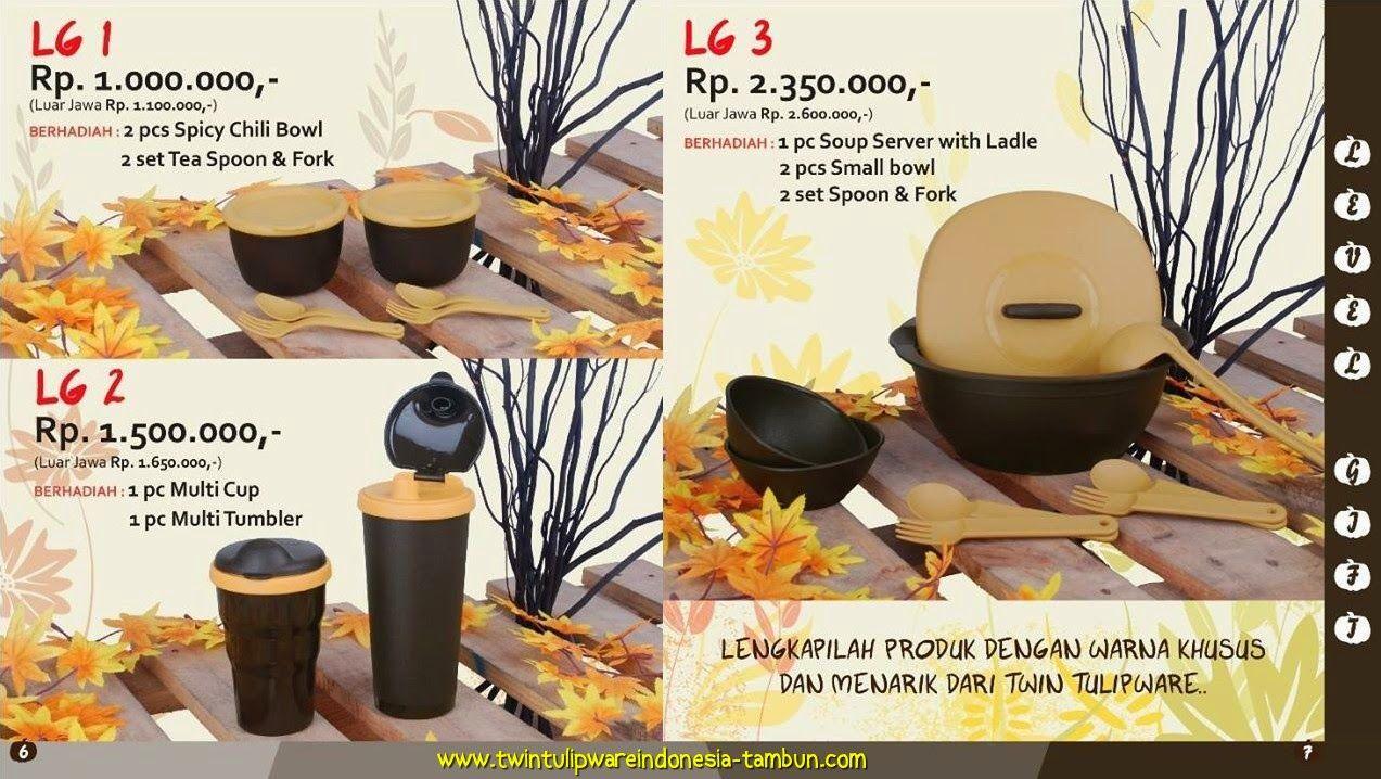 Level Gift Tulipware September - Oktober 2014