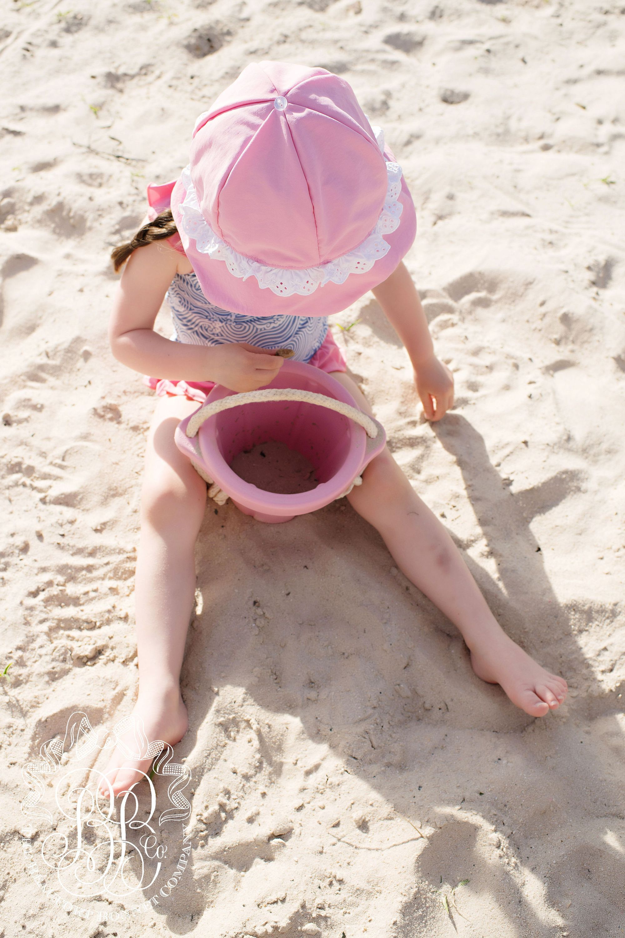 41dccd34c83ab Hartley Hat - Hamptons Hot Pink with White Swim Eyelet - The Beaufort  Bonnet Company