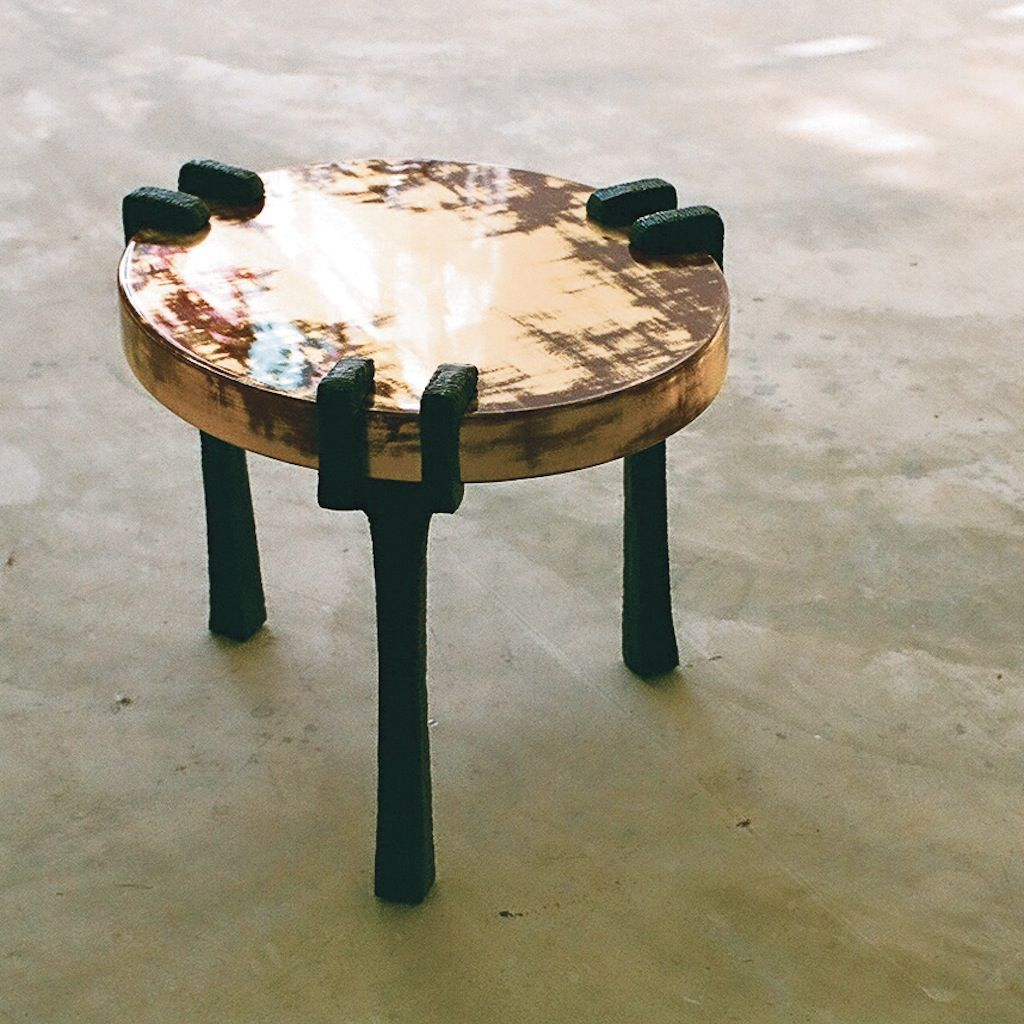 Vespers Low Table By Alexander Lamont. Calligrapheru0027s Lacquer Tabletop With  Textured Bronze ...