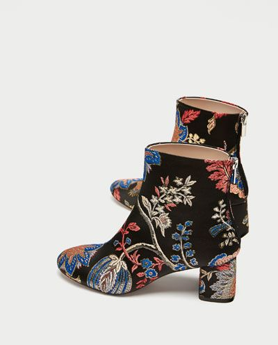 dece28a339a HIGH HEEL JACQUARD ANKLE BOOTS-Ankle Boots-SHOES-WOMAN | ZARA United ...