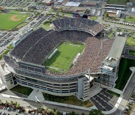 Happy Valley Pennsylvania Beaver Stadium Penn State Biggest Stadium Beaver Stadium Penn State Nittany Lions Football