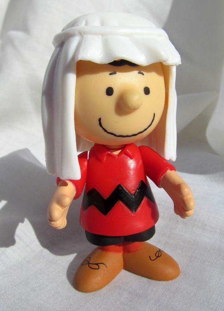Peanuts Charlie Brown Christmas Holiday Nativity Manger Joseph Figure Figurine #Peanuts