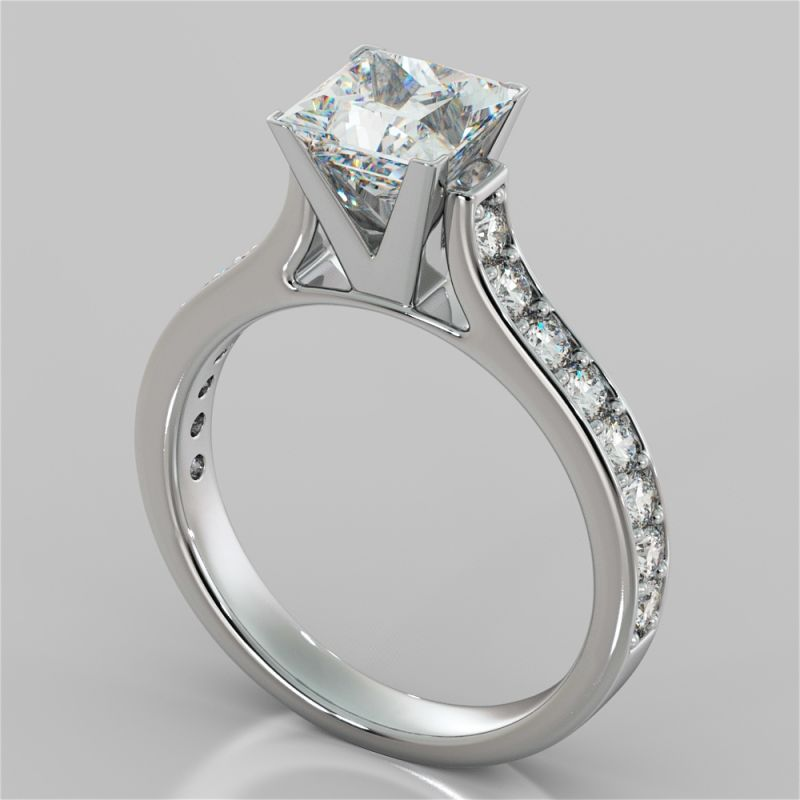 Take Her Breath Away With This Timeless Cathedral Style Engagement Ring Features A Stunning Princess