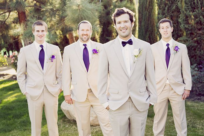 JEH Ranch Wedding Groom and Groomsmen Wearing Our Tan Allure Suit ...