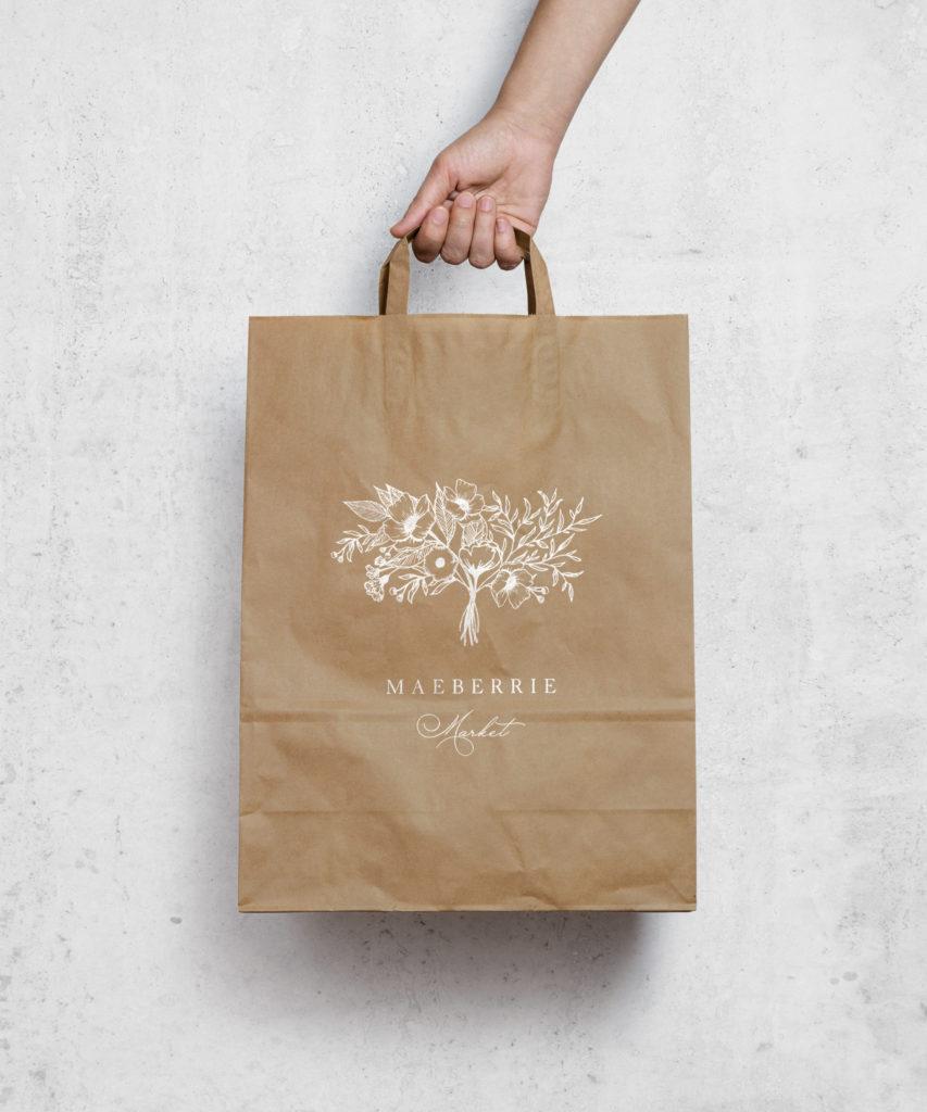 Download Maeberrie Market Mara Paper Bag Design Paper Bag Brand Strategy Design