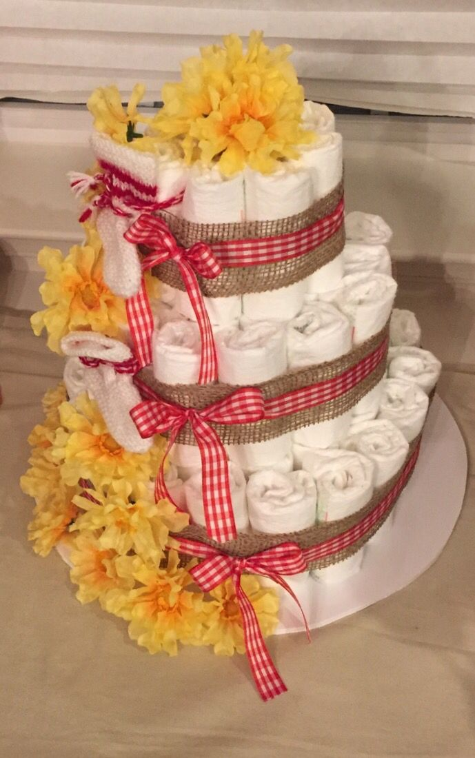Bbq Baby Shower Diaper Cake