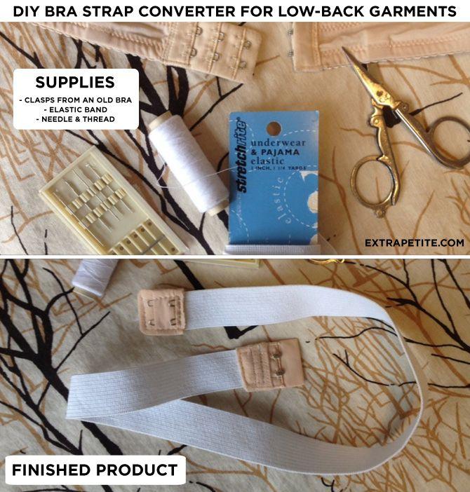 40ef4ec827e24 DIY  How to make a bra strap converter for low-back dresses