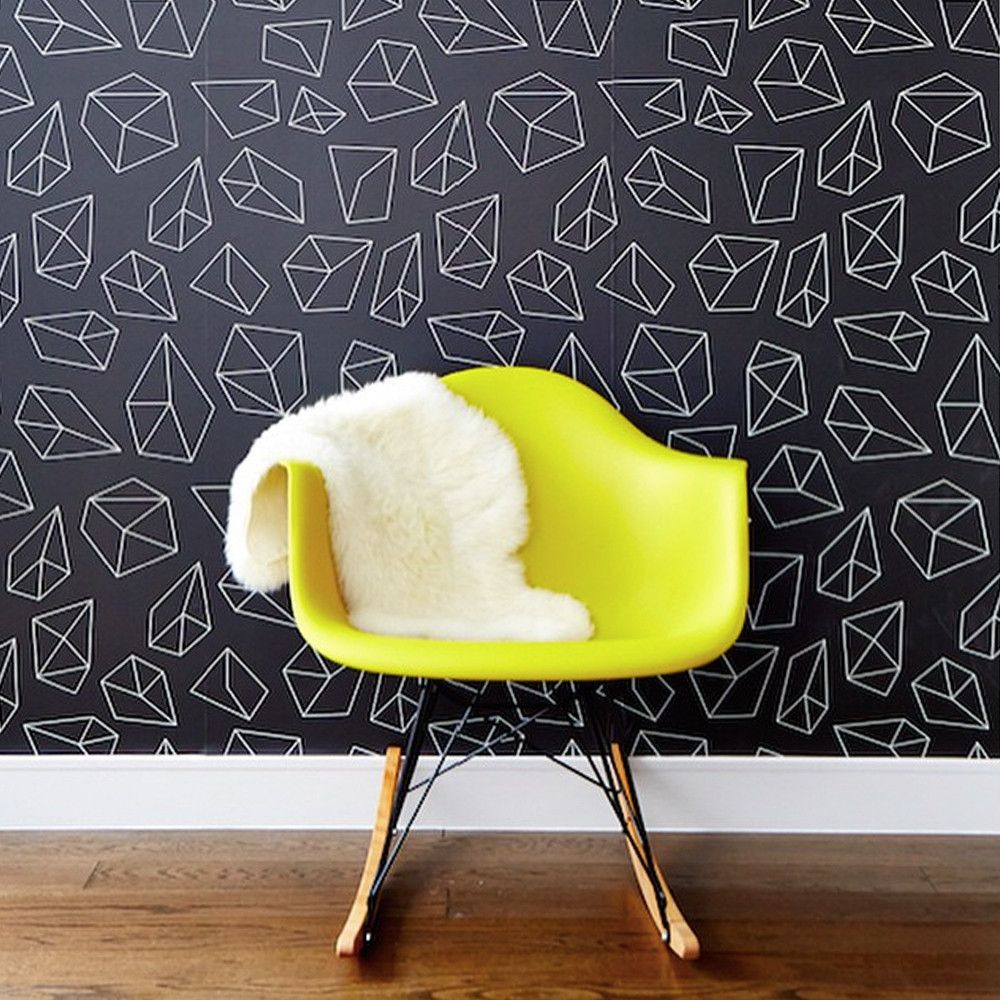 A little paper goes a long way. Stylish removable wallpaper for the ...