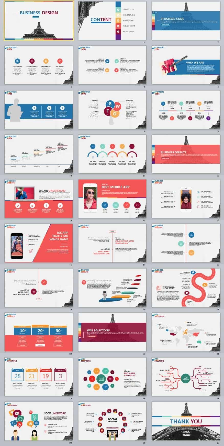30+ business powerpoint presentation template | presentaciones, Modern powerpoint