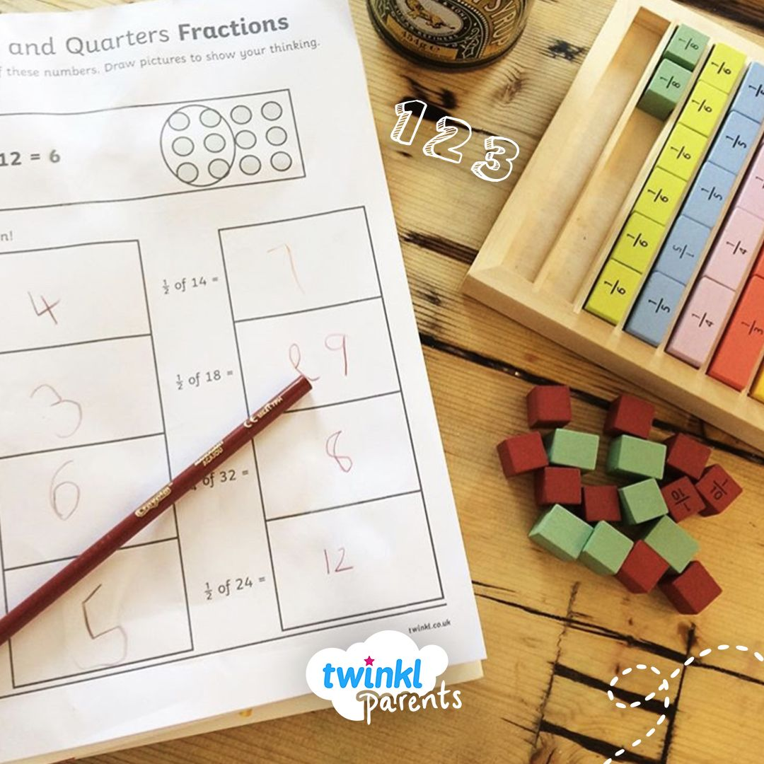 This Fractions Worksheet Allows Children To Practise