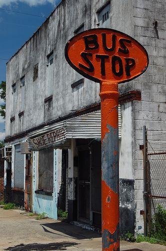 bus picture Vintage stop