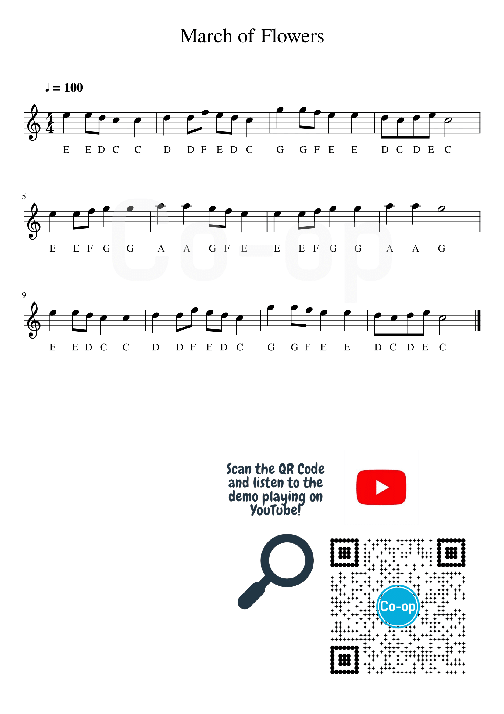 March Of Flowers  Free Sheet Music And Sheet Music