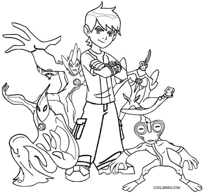 Printable Ben Ten Coloring Pages For Kids Cool2bkids Cartoon Coloring Pages Coloring Pages Super Coloring Pages