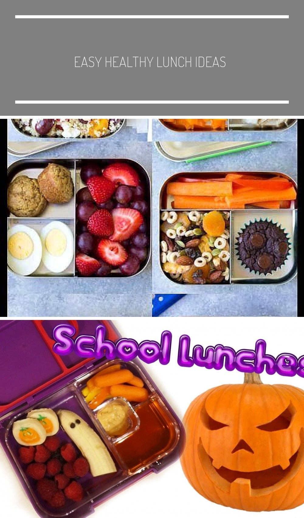 EASY Healthy Lunch Ideas for Kids Bento box lunchbox ideas to pack for school home or even for you