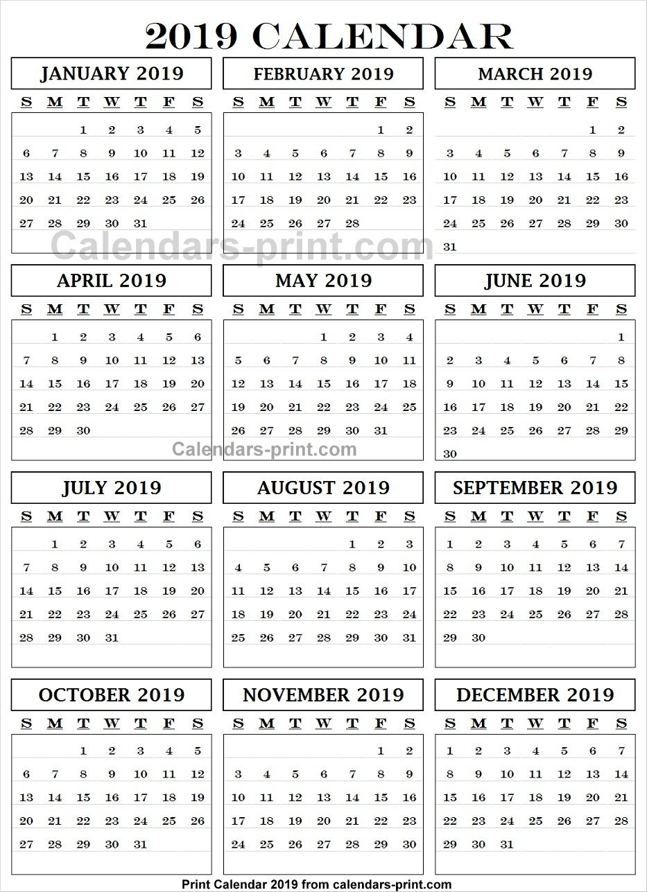 Calendar 2019 English And Arabic Print Calendar Calendar