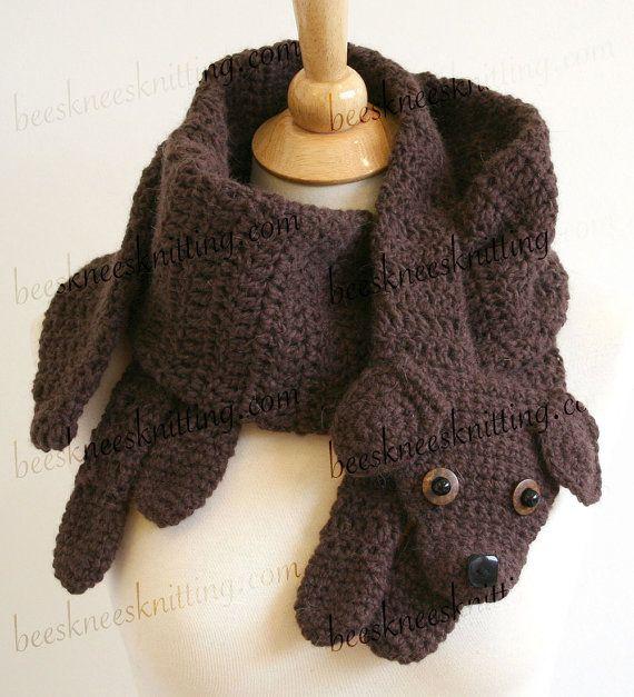 Digital PDF Crochet Pattern for Puppy Love Scarf - DIY Fashion ...