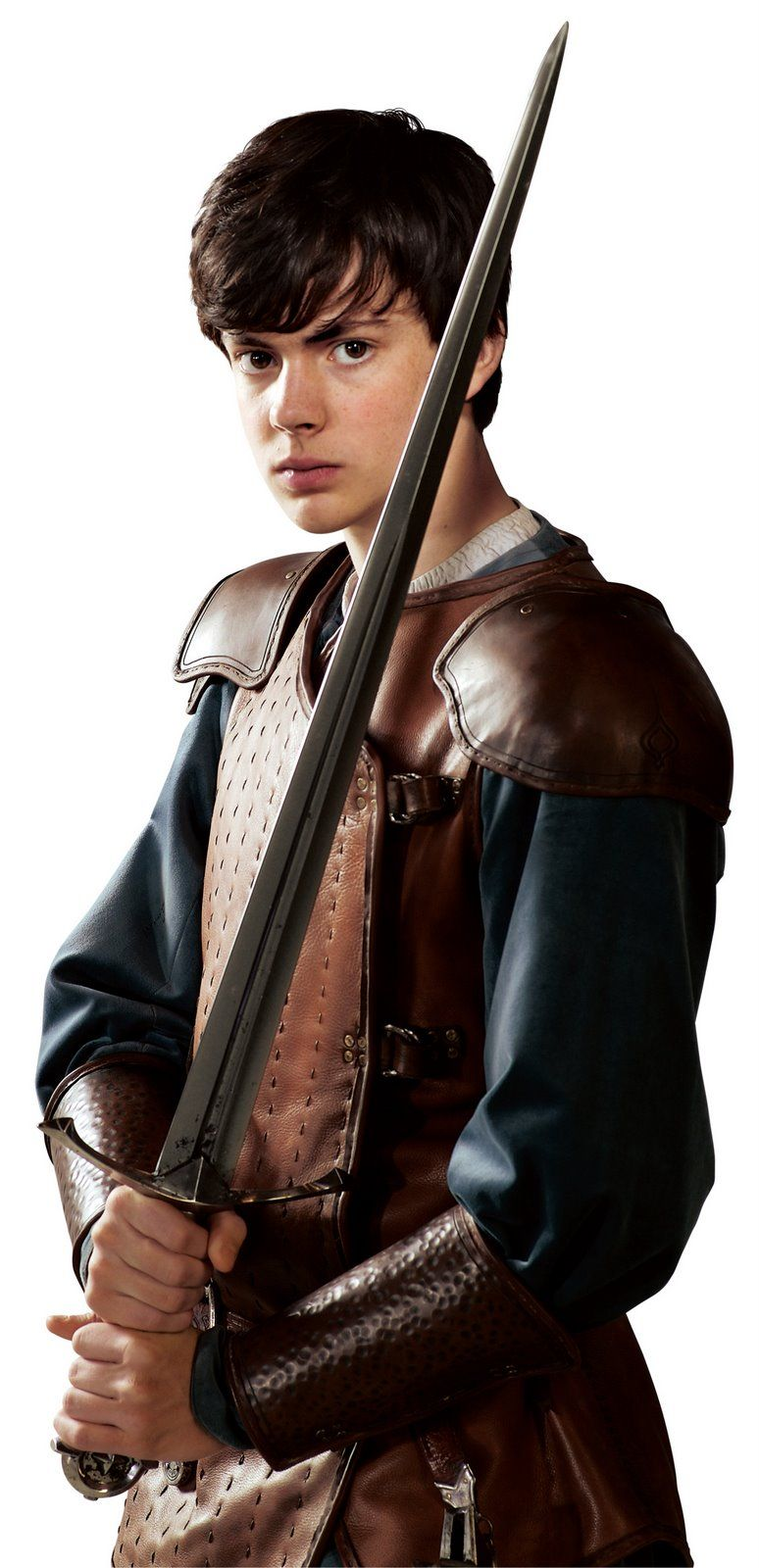 "Skandar Keynes as King Edward the Just on ""The Chronicles of Narnia"""