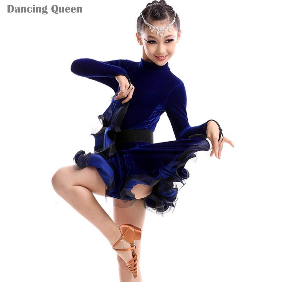 Pas cher 2015 nouvelles filles de danse latine robes enfants costumes de danse robes de concours - Robe de danse de salon pas cher ...