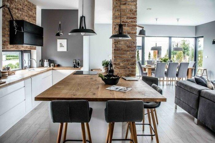 offener wohnplan esstisch wohnzimmer kueche essraum sofa - ideen offene kuche wohnzimmer