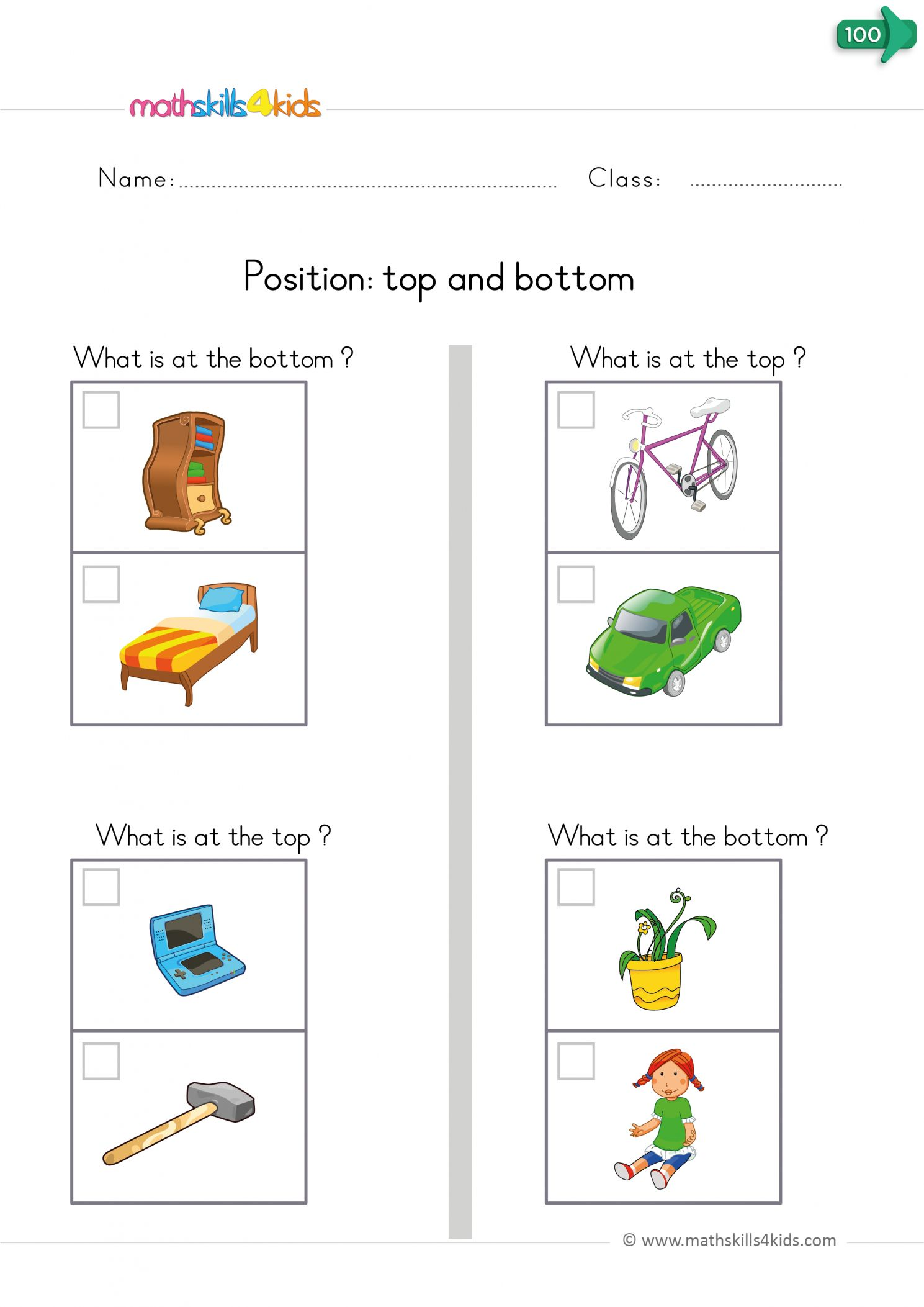 Spatial Relations Worksheets Grade R   Printable Worksheets and Activities  for Teachers [ 2105 x 1489 Pixel ]