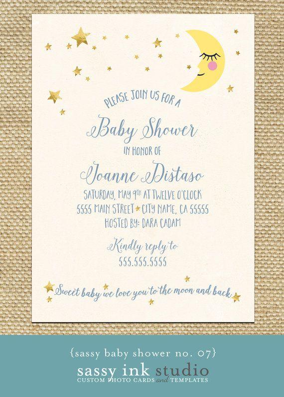 Baby Shower Invitation Dream Big Little One Customized Etsy Baby Shower Invitations Printable Invitations Invitations
