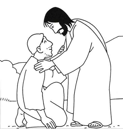 Heals the Sick Because Miracles of Jesus Coloring Page  Colouring