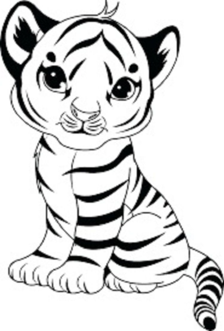 Baby Tiger Coloring Pages Check more at http://coloringareas.com