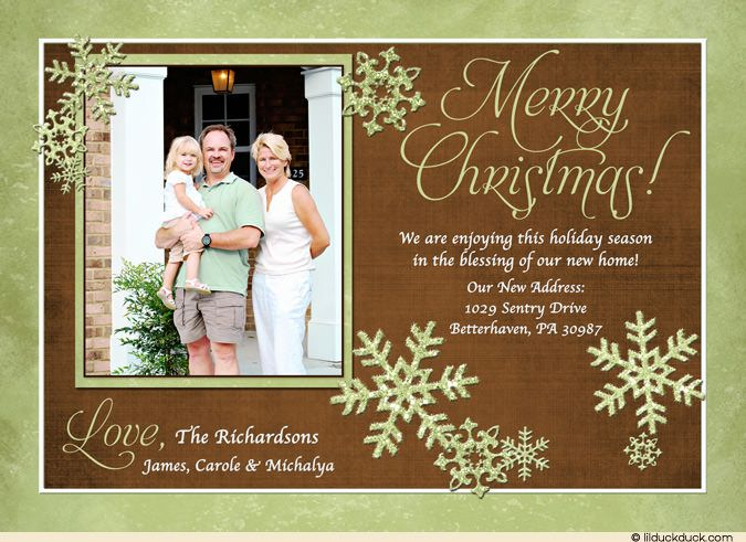 New Home For Christmas Card Family Changes Addresses Photo Cards
