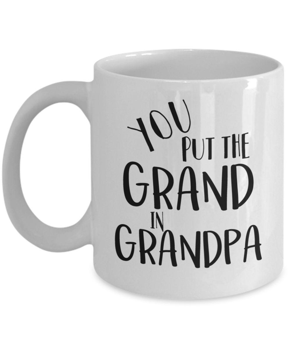Fathers Day Grandpa Personalised Photo Grandad Cup Tea Coffee Mug
