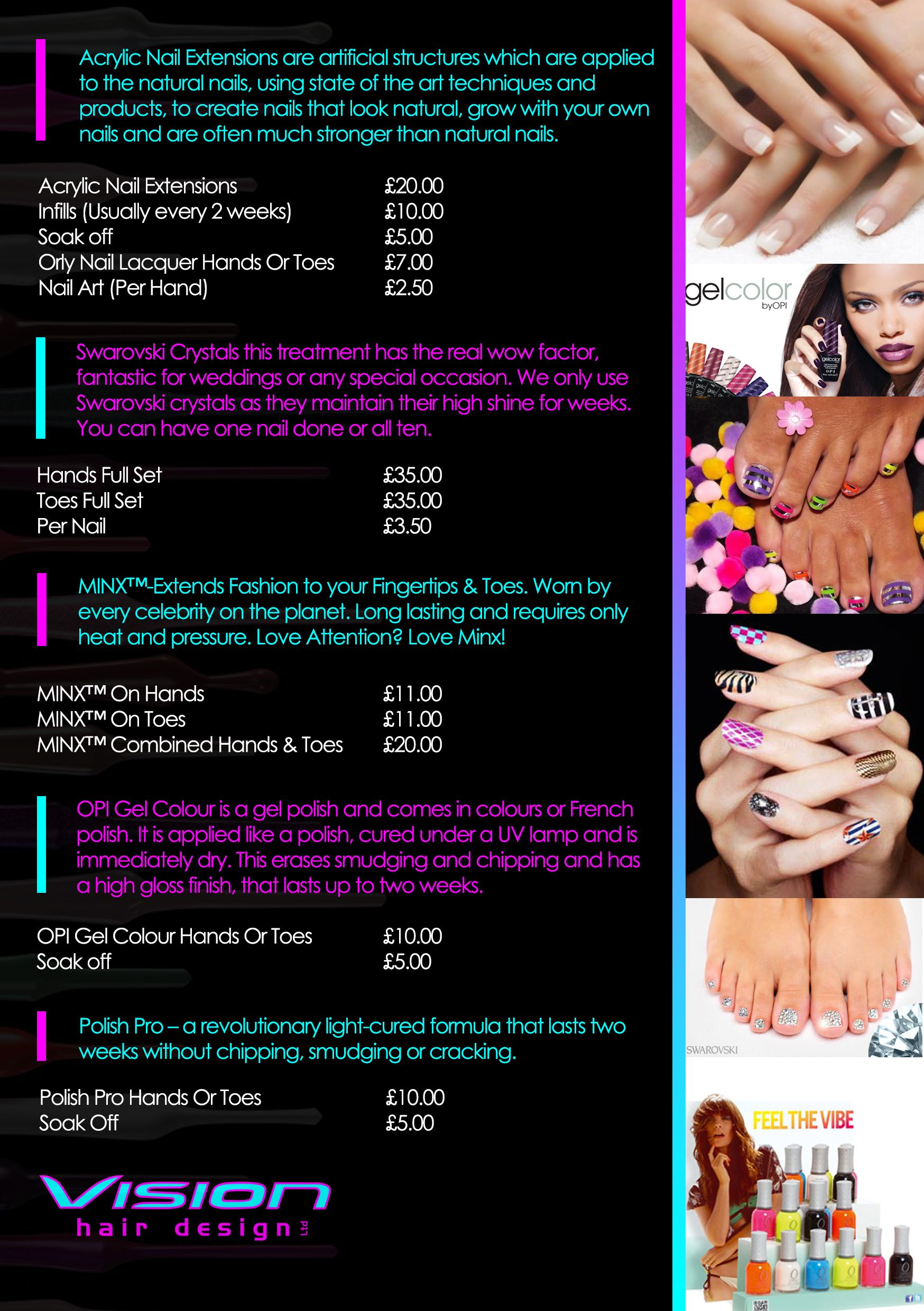 nail salon flyer ad template spa ad flyer nail flyer example
